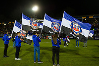 A general view of the Bath Rugby guard of honour. European Rugby Champions Cup match, between Bath Rugby and the Scarlets on January 12, 2018 at the Recreation Ground in Bath, England. Photo by: Patrick Khachfe / Onside Images
