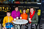 Samuel O'Donoghue, Maire Murphy, Clara O'Donoghue and Isabelle Murphy enjoying a hot chocolate in Lir Cafe on Monday