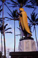 King Kamehameha statue with palm trees in the background, Kapaau