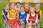 Competing in the Muire Gan Smal, Castleisland sports day in the school on Friday was l-r: Anita McCarthy, Muireann Mangan, Aiba Herbert (spelt Correct), Emma O'Regan, Moya Sheehan, Chloe O'Connor and Aisling Kearney