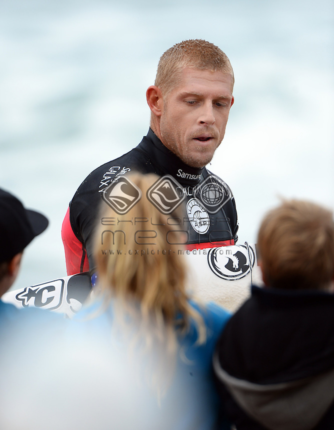 Mick Fanning (AUS) Men's Champ<br /> Surfing - 2014 Rip Curl Pro / Finals<br /> (3rd stop on ASP World Championship Tour)<br /> Bells Beach, Victoria (Australia)<br /> Wednesday 23rd April 2014<br /> &copy; Sport the library/Jeff Crow
