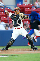 July 20th 2008:  Zach Zaneski of the Spokane Indians, Rookie Class-A affiliate of the Texas Rangers, during a game at Home of the Avista Stadium in Spokane, WA.  Photo by:  Matthew Sauk/Four Seam Images