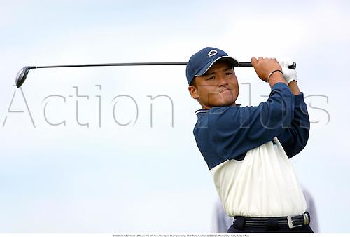SHIGEKI MARUYAMA (JPN) on the 6th tee, The Open Championship, Muirfield, Scotland, 020721. Photo:Glyn Kirk/Action Plus...Golf.2002