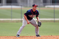Minnesota Twins Nick Lockwood #9 during a minor league spring training intrasquad game at the Lee County Sports Complex on March 25, 2012 in Fort Myers, Florida.  (Mike Janes/Four Seam Images)