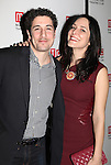 Jason Biggs & Jenny Mollen attending the Opening Night Party for the Manhattan Theatre Club's 'Golden Age' at Beacon Restaurant in New York City on December 4, 2012.