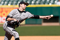 Missouri TIger pitcher Phil McCormick against the TCU Horned Frogs on Friday March 5th, 2100 at the Astros College Classic in Houston's Minute Maid Park.  (Photo by Andrew Woolley / Four Seam Images)