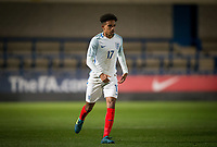 Jacob Maddox (Chelsea) of England U20 during the International friendly match between England U20 and Netherlands U20 at New Bucks Head, Telford, England on 31 August 2017. Photo by Andy Rowland.