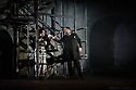 """English Touring Opera presents """"Don Giovanni"""", by Wolfgang Amadeus Mozart, at the Hackney Empire.  Directed by Lloyd Wood, with set & costume design by Anna Fleischle and lighting design by Guy Hoare. Picture shows:  Ania Jeruc (Donna Elvira), George von Bergen (Don Giovanni)."""