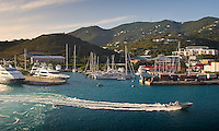 The harbor of St. Thomas accommodates sailboats and outboards, in addition to the large cruise liners. Photo from Feb. 8, 2012
