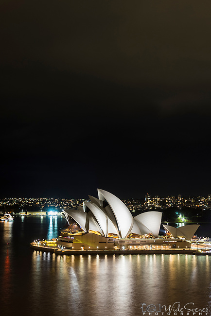 Sydney Opera House at night, Sydney, NSW, Australia