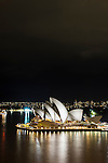 Sydney Opera House at night, Sydney, NSW, Australia