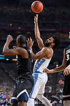 GLENDALE, AZ - APRIL 03: Joel Berry II #2 of the North Carolina Tar Heels shoots the ball during the 2017 NCAA Men's Final Four National Championship game against the Gonzaga Bulldogs at University of Phoenix Stadium on April 3, 2017 in Glendale, Arizona.  (Photo by Brett Wilhelm/NCAA Photos via Getty Images)