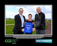 Co Sligo Boys with PJ Kavanagh from Bank of Ireland and Justin O'Byrne from CGI.<br /> Junior golfers from across connacht practicing their skills at the regional finals of the Dubai Duty Free Irish Open Skills Challenge supported by Bank of Ireland at Galway Bay golf club, Galway, Co Galway. 2/04/2016.<br /> Picture: Golffile | Fran Caffrey<br /> <br /> <br /> All photo usage must carry mandatory copyright credit (© Golffile | Fran Caffrey)