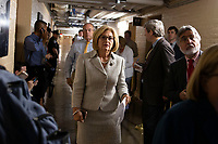 Representative Diane Black, Republican of Tennessee, walks to a meeting of United States House of Representatives Republican members in the basement of the United States Capitol Building on June 7, 2018 in Washington, DC. The Republican members are discussing immigration policy changes. <br /> CAP/MPI/RS<br /> &copy;RS/MPI/Capital Pictures