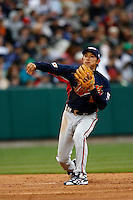 Munemori Kawasuki of Japan during World Baseball Championship at Angel Stadium in Anaheim,California on March 12, 2006. Photo by Larry Goren/Four Seam Images