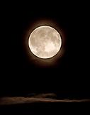 USA, Alaska, full moon at night, Redoubt Bay