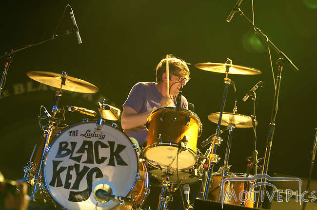 The Black Keys playing the Stagesaurus Rex stage at the First Annual Kanrocksas Music Festival.