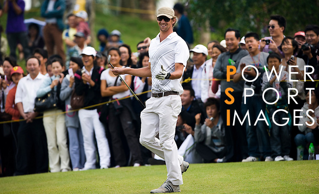 Michael Phelps of USA during the Mission Hills Star Trophy on October 31, 2010 in Haikou, China. Photo by Victor Fraile / The Power of Sport Images