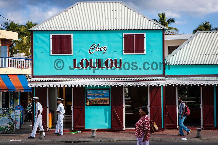 Chez Loulou store at St Gille on Reunion  Island in the southern Indian Ocean.  Photo Joli