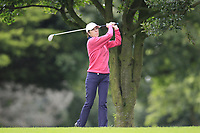 Kay Gilbert (Malone) during the final  of the Ulster Mixed Foursomes at Killymoon Golf Club, Belfast, Northern Ireland. 26/08/2017<br /> Picture: Fran Caffrey / Golffile<br /> <br /> All photo usage must carry mandatory copyright credit (&copy; Golffile | Fran Caffrey)