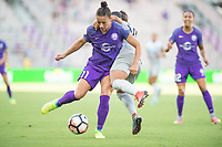 Orlando, FL - Sunday May 14, 2017: Ali Krieger during a regular season National Women's Soccer League (NWSL) match between the Orlando Pride and the North Carolina Courage at Orlando City Stadium.