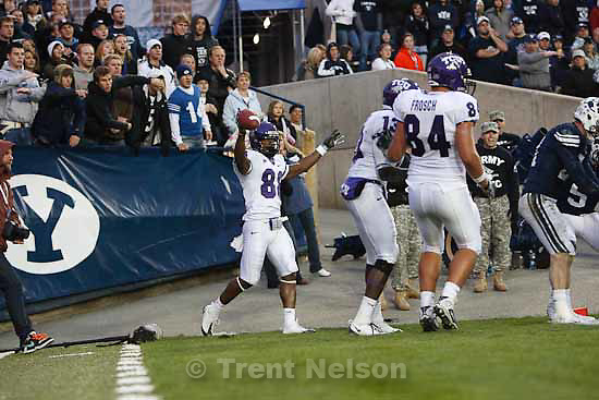 jimmy young, brandon bradley. mike terry.BYU vs. TCU college football Saturday, October 24 2009 in Provo.