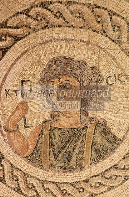 Europe/Chypre/Kourion : théâtre greco-romain - Mosaïque représentant Ktisis