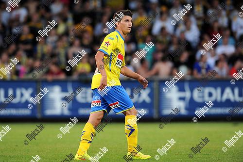 2014-07-26 / Voetbal / seizoen 2014-2015 / KVC Westerlo - Sporting Lokeren / Jarno Molenberghs<br /><br />Foto: mpics.be