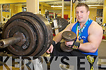 Tommy Dolan, Killarney, who achieved a world record in the bench press when he lifted 180kg at the GPC National Powerlifting Championships in Limerick at the weekend...