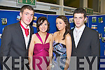 A GREAT TIME: Preparing to have a great night out at their Debs on Friday were students Gerry Scanlon, Jennifer Lynch, Aine Moriarty and Padraig Cleary from Mean Scoil an Leith Triuigh, Castlegregory.