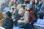 Oldham fans trying to keep warm. Oldham v Portsmouth League 1