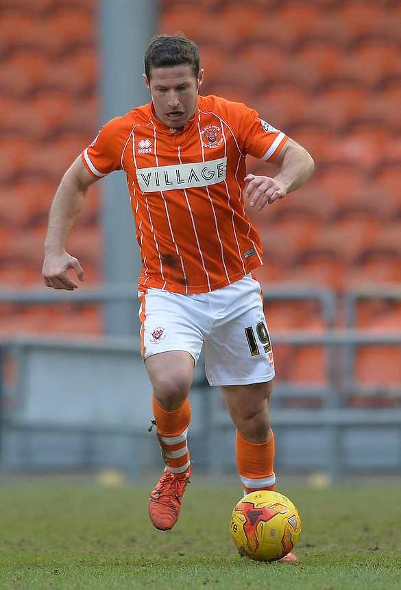 Blackpool's David Norris<br /> <br /> Photographer Dave Howarth/CameraSport<br /> <br /> Football - The Football League Sky Bet League One - Blackpool v Shrewsbury Town - Saturday 13th February 2016 - Bloomfield Road - Blackpool    <br /> <br /> &copy; CameraSport - 43 Linden Ave. Countesthorpe. Leicester. England. LE8 5PG - Tel: +44 (0) 116 277 4147 - admin@camerasport.com - www.camerasport.com