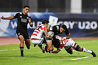Billy Proctor of New Zealand and Koga Nzuka of Japan during the U20 World Championship match between New Zeland and Japan on May 30, 2018 in Narbonne, France. (Photo by Alexandre Dimou/Icon Sport)