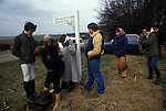 Kiplingcotes Derby Yorkshire 1970s. Weighing in The world oldest horse race in the English sporting calendar. Started in 1519, and takes place on the third Thursday in March annually. Kiplingcotes is a small hamlet near Market Weighton.
