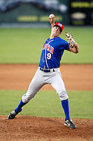 July 4, 2009:  Pitcher Zach Outman of the Auburn Doubledays delivers a pitch during a game at Dwyer Stadium in Batavia, NY.  The Doubledays are the NY-Penn League Short-Season Class-A affiliate of the Toronto Blue Jays.  Photo by:  Mike Janes/Four Seam Images