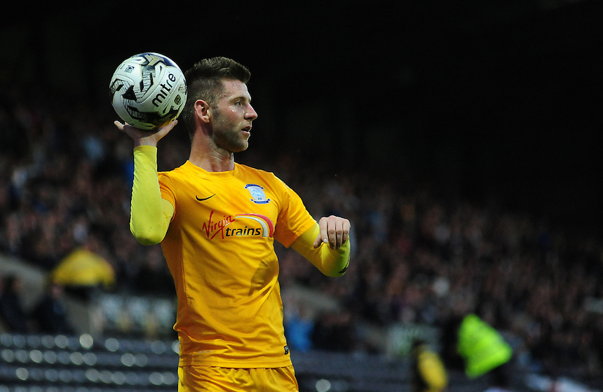 Preston North End's Paul Gallagher<br /> <br /> Photographer Chris Vaughan/CameraSport<br /> <br /> Football - The Football League Sky Bet League One - Notts County v Preston North End - Tuesday 21st April 2015 - Meadow Lane - Nottingham<br /> <br /> &copy; CameraSport - 43 Linden Ave. Countesthorpe. Leicester. England. LE8 5PG - Tel: +44 (0) 116 277 4147 - admin@camerasport.com - www.camerasport.com