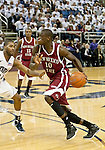 March 1, 2012: New Mexico State Aggies forward Bandja Sy drives against the Nevada Wolf Pack during their NCAA basketball game played at Lawlor Events Center on Thursday night in Reno, Nevada.