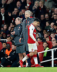 Arsenal's Arsene Wenger with Alexis Sanchez during the premier league match at the Emirates Stadium, London. Picture date 22nd December 2017. Picture credit should read: David Klein/Sportimage