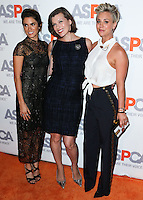 BEL AIR, CA, USA - OCTOBER 22: Nikki Reed, Milla Jovovich, Kaley Cuoco arrives at the 2014 ASPCA Compassion Award Dinner Gala held at a Private Residence on October 22, 2014 in Bel Air, California, United States. (Photo by Xavier Collin/Celebrity Monitor)