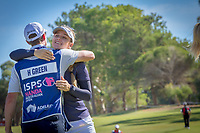 Hannah Green (AUS) thanks her caddy during the third round of the ISPS Handa Women&rsquo;s Australian Open, The Grange Golf Club, Adelaide SA 5022, Australia, on Saturday 16th February 2019.<br /> <br /> Picture: Golffile | David Brand<br /> <br /> <br /> All photo usage must carry mandatory copyright credit (&copy; Golffile | David Brand)