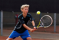 Netherlands, Rotterdam August 05, 2015, Tennis,  National Junior Championships, NJK, TV Victoria, Stian Klaasen<br /> Photo: Tennisimages/Henk Koster
