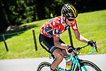 Part of the breakaway group Polka Dot jersey wearer Koen Bouwman (NED) Lotto NL-Jumbo in action during Stage 5 of the Criterium du Dauphine 2017, running 175.5km from La Tour-de Salvagny to Macon, France. 8th June 2017. <br /> Picture: ASO/A.Broadway | Cyclefile<br /> <br /> <br /> All photos usage must carry mandatory copyright credit (&copy; Cyclefile | ASO/A.Broadway)
