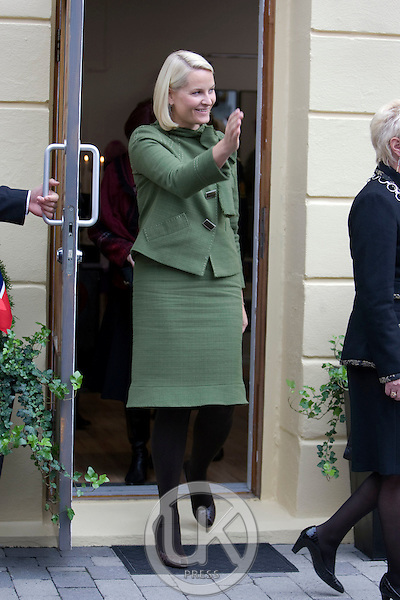 Crown Prince Haakon and Crown Princess Mette Marit of Norway visit The city of Notodden on day one of a three day visit to the county of Telemark in Norway.