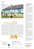 Die Wochenzeitung WOZ (Swiss weekly) on crisis-related civil activity in Hungary, part 6: Painting Bodvalenke Roma village, 2013.05.09. Photo: Martin Fejer