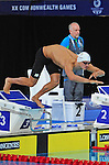 Wales' Calum Jarvis competes in the Men's 200m Freestyle - Heat 3<br /> <br /> Photographer Chris Vaughan/Sportingwales<br /> <br /> 20th Commonwealth Games - Day 2 - Friday 25th July 2014 - Swimming - Tollcross International Swimming Centre - Glasgow - UK