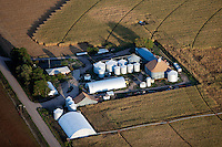 aerial photograph grain silos Iowa