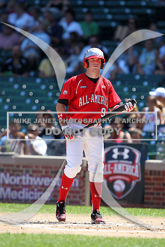 Catcher (J.D.) John David Crowe Jr. during the 2010 Under Armour All-American Game powered by Baseball Factory at Wrigley Field in Chicago, Illinois on August 14, 2010.  (Copyright Mike Janes Photography)