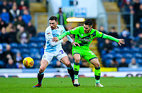 Blackburn Rovers' Corry Evans shields the ball from Norwich City's Emi Buendia<br /> <br /> Photographer Alex Dodd/CameraSport<br /> <br /> The EFL Sky Bet Championship - Blackburn Rovers v Norwich City - Saturday 22nd December 2018 - Ewood Park - Blackburn<br /> <br /> World Copyright © 2018 CameraSport. All rights reserved. 43 Linden Ave. Countesthorpe. Leicester. England. LE8 5PG - Tel: +44 (0) 116 277 4147 - admin@camerasport.com - www.camerasport.com