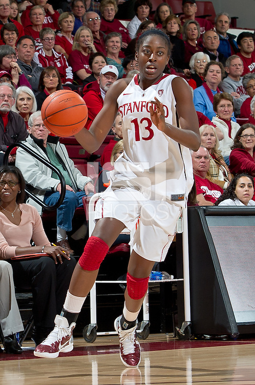 STANFORD, CA - January 20, 2011: Stanford Cardinal's Chiney Ogwumike during Stanford's 64-38 victory over UCLA at Maples Pavilion in Stanford, California.