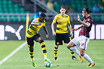 Borussia Dortmund Midfielder Ousmane Dembele (L) fights for the ball with AC Milan Midfielder Ricardo Rodriguez (R) during the International Champions Cup 2017 match between AC Milan vs Borussia Dortmund at University Town Sports Centre Stadium on July 18, 2017 in Guangzhou, China. Photo by Marcio Rodrigo Machado / Power Sport Images